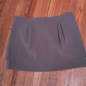 Express olive tiered skirt